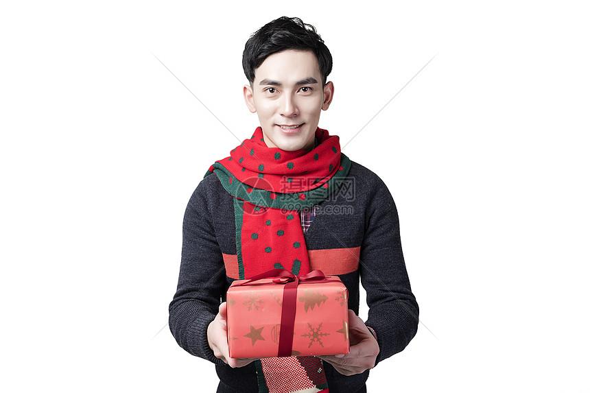 圣诞节男士人像送礼图片