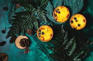 森系蓝莓蛋挞图片
