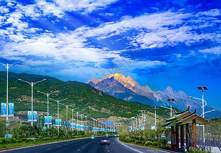 玉龙雪山大道图片