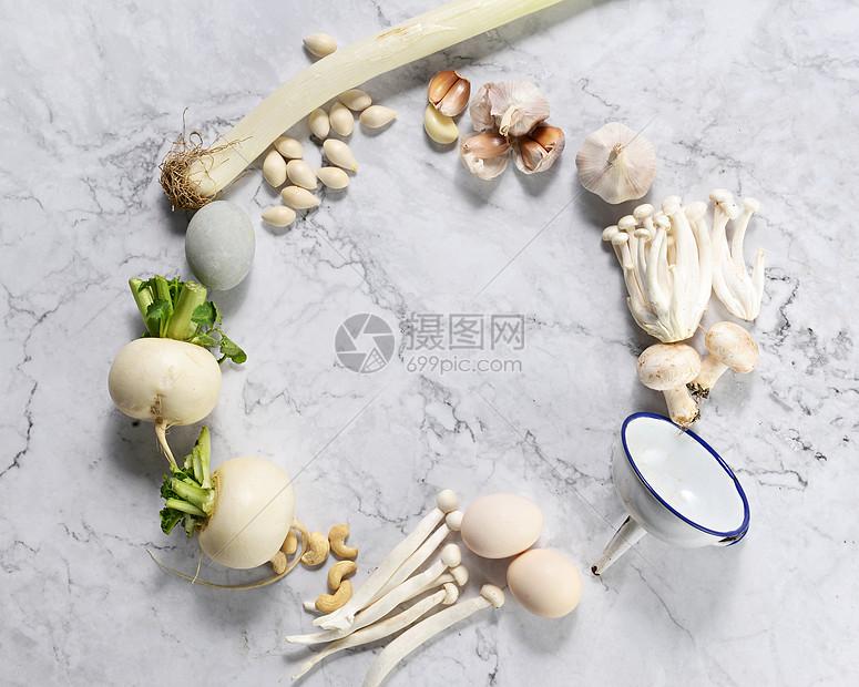 白色素菜素材图片