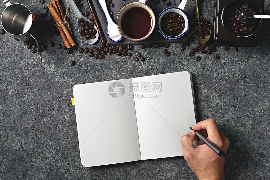 咖啡创意静物设计素材图片