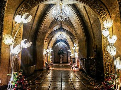 婚礼仪式厅的走道图片
