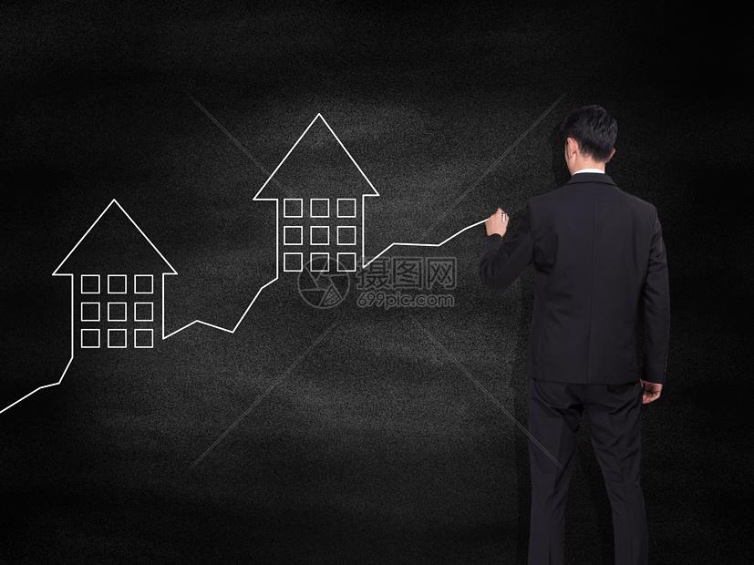 房价上升趋势图图片