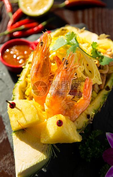 青虾菠萝饭图片