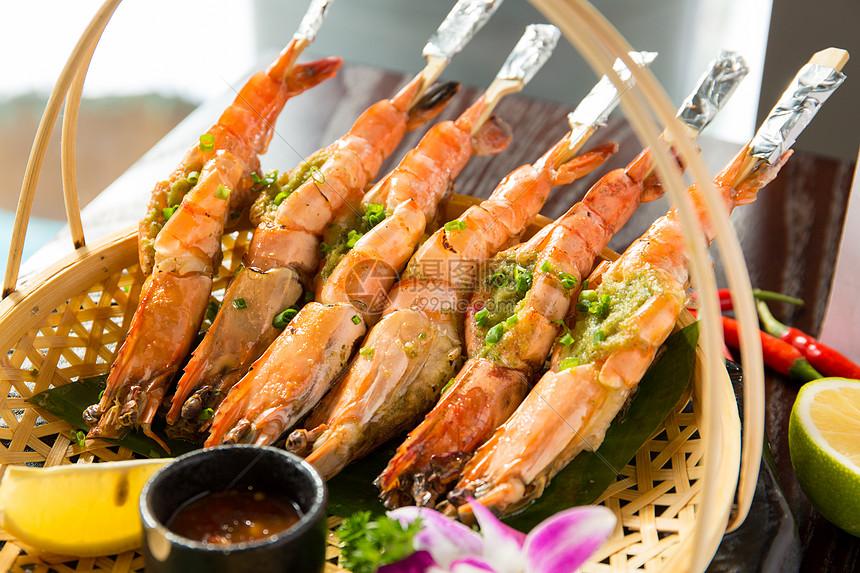 泰国烤青虾图片