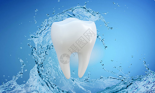 美白牙齿背景图片