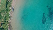 航拍北海的涠洲岛图片