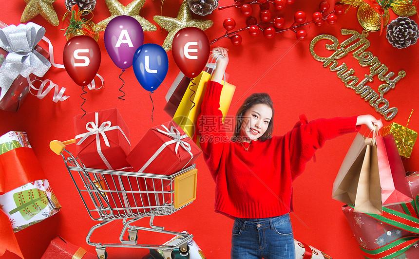 圣诞购物狂欢图片