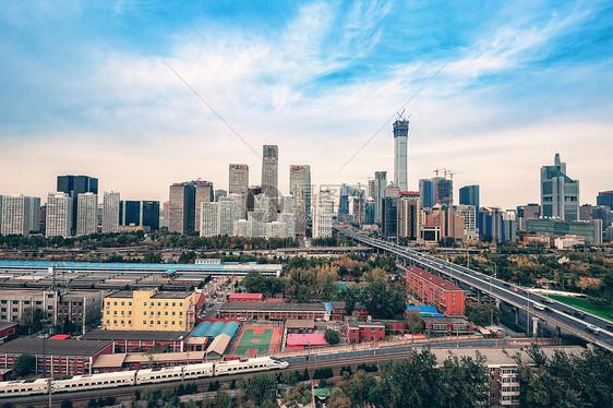 北京国贸城市和道路图片