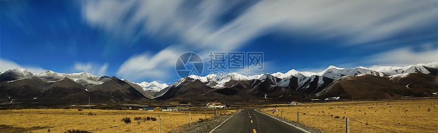 祁连雪山风光摄影图片