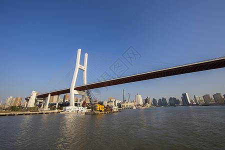 黄浦江上的南浦大桥图片