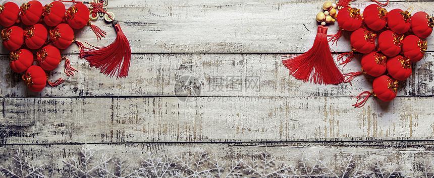 新年红灯笼背景素材图片