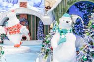商场圣诞节圣诞树装扮图片