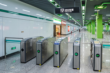 地铁设施检票口图片