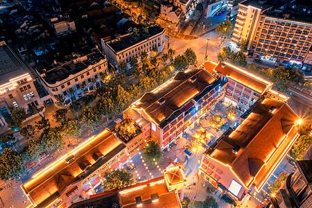 俯瞰武汉节日吉庆街夜景图片