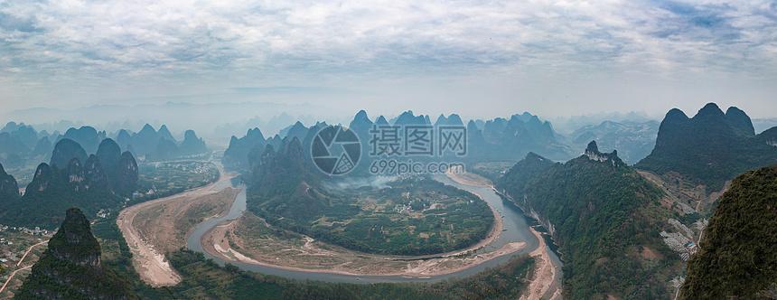 漓江全景图图片