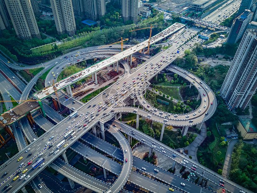 重庆鹅公岩立交桥航拍图片