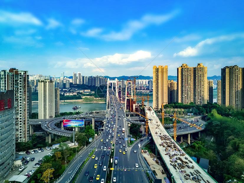重庆鹅公岩大桥航拍图片