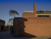 冬日的红砖墙图片