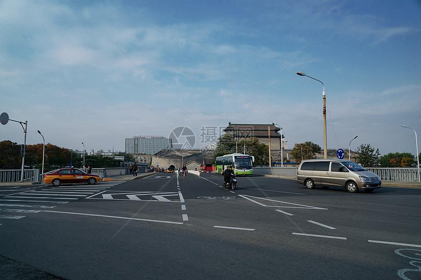 冬季北京的路口图片