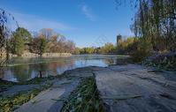 初冬的北大未名湖湖畔图片