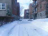 下雪后国外的住宅小区图片