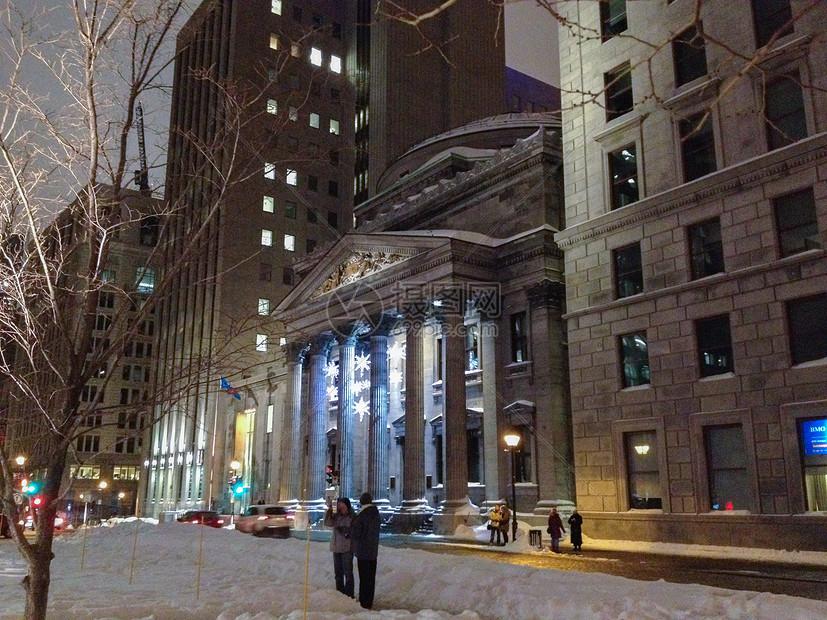 新年前国外大街图片