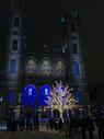 冬季国外新年前夜的夜景图片