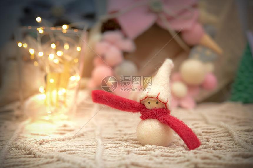 圣诞节毛毡雪人图片