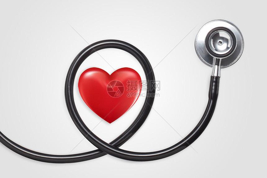 听诊器里面的爱心图片