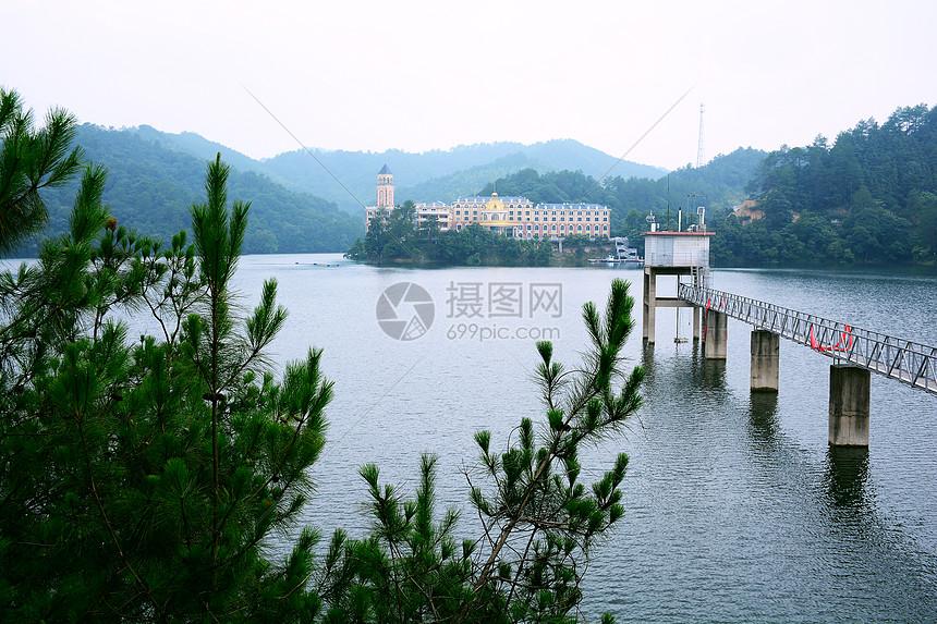 宁乡黄材水库自然风景图片
