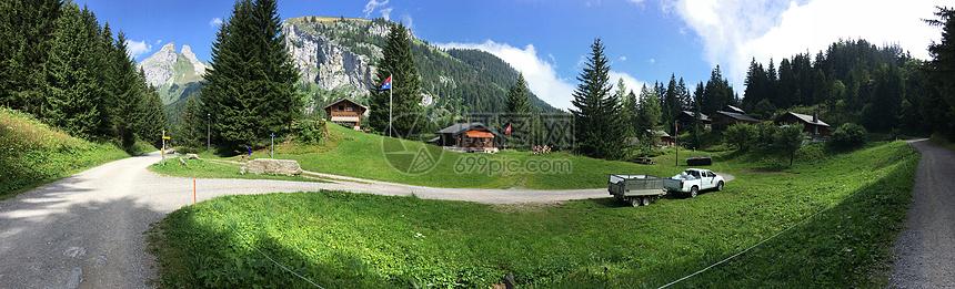 瑞士风光全景图图片