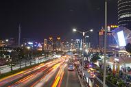 城市光轨夜景图片