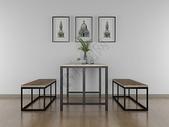 现代简约餐桌效果图图片