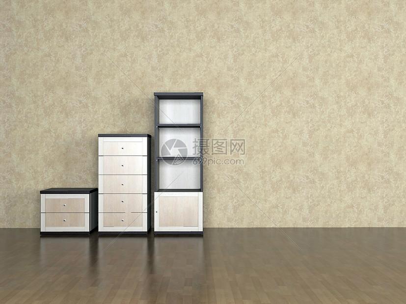 高低组合柜效果图图片
