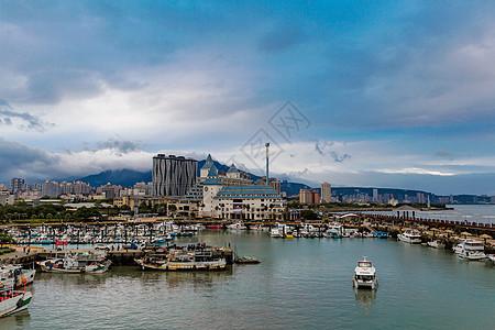 台北淡水渔人码头图片