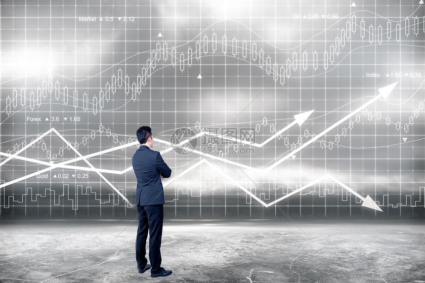 创意股市数据图片