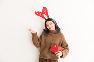 圣诞节甜美女性图片