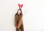 圣诞节甜美女性500759029图片