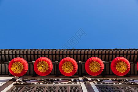 上海豫园建筑与灯笼图片