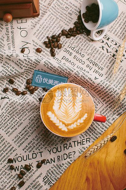 咖啡拉花-优美西点培训图片