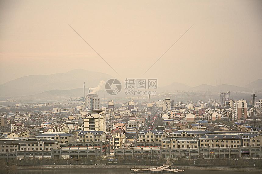 大气污染下的城市图片