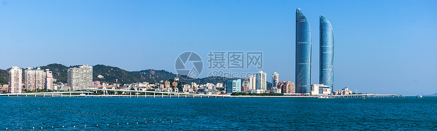 厦门环岛路海岸天际线图片