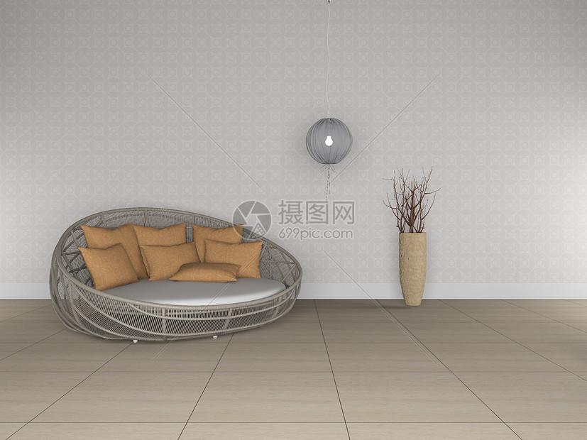 休闲沙发椅家居效果图图片