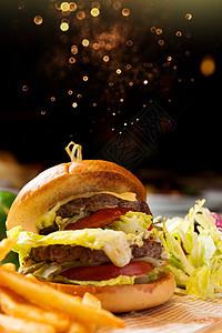 牛肉汉堡包图片