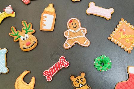 圣诞节姜饼小人图片