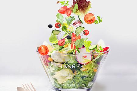 新鲜素食沙拉图片