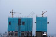 建设中的工地大楼特写图片