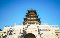 韩国景福宫古建筑图片