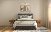 现代极简风卧室室内设计效果图图片